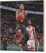 Atlanta Hawks V Chicago Bulls Wood Print