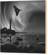 Auroral Splendour For The Vulcan Wood Print