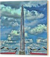 B-17 Tail Fin Wood Print