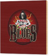 Bad Luck Blues Wood Print
