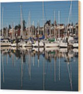 Bellingham Bay Marina  Wood Print