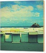 Blankenberge Beach Wood Print