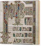 Book Of Lindisfarne Wood Print
