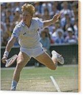 Boris Becker Ger Wimbledon Wood Print