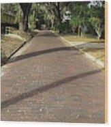 Brick Road In Palatka Florida Wood Print
