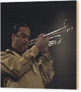 Buck Clayton Performs On Stage Wood Print