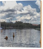 Buoys In The River Wood Print