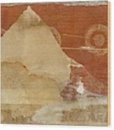 Burnt Orange Collage Wood Print
