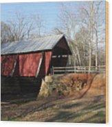 Campbell's Covered Bridge Wood Print