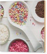 Candy Sprinkles Wood Print