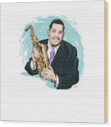 Cannonball Adderley - An Illustration By Paul Cemmick Wood Print