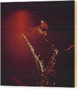 Cannonball Adderley Performs At Newport Wood Print