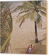 Caribe Hilton Beach Wood Print