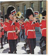 Changing Of The Guard In Ottawa Ontario Canada Wood Print