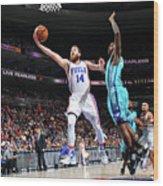 Charlotte Hornets V Philadelphia 76ers Wood Print
