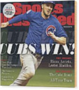 Chicago Cubs, 2016 World Series Champions Sports Illustrated Cover Wood Print