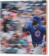 Chicago Cubs V Washington Nationals Wood Print