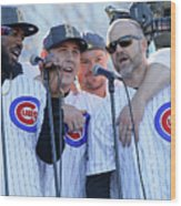 Chicago Cubs Victory Celebration Wood Print