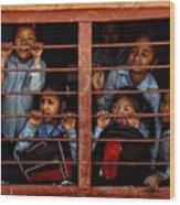 Children Of Nepal - Series Wood Print