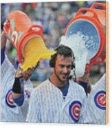 Cleveland Indians V Chicago Cubs 1 Wood Print