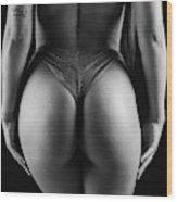 Closeup Of Sexy Woman Body Wood Print