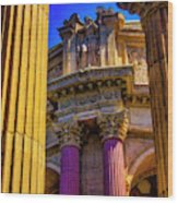 Columns Of The Palace Of Fine Arts Wood Print