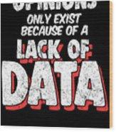 Computer Data Science Big Data Geek Pun Apparel Wood Print