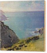 Cornish Headlands  Wood Print