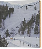 Curling At St. Moritz Wood Print