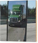 Green Freightliner Publix Wood Print