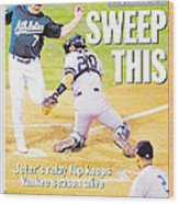 Daily News Back Page Derek Jeter Wood Print
