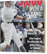 Daily News Front Page Derek Jeter Wood Print