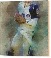 Dallas Cowboys.troy Kenneth Aikman Wood Print