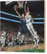 Dallas Mavericks V Boston Celtics Wood Print
