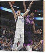 Dallas Mavericks V Minnesota Wood Print
