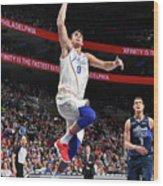 Dallas Mavericks V Philadelphia 76ers Wood Print