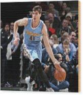 Denver Nuggets V Milwaukee Bucks Wood Print