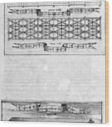 Description Of The Ark, 1675. Artist Wood Print