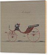 Design For Cabriolet Or Victoria, No. 3558  1879 Wood Print