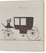 Design For Glass Panel Coach, No. 3132 1875 Wood Print