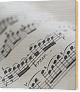 Detail Of Sheet Music Wood Print