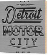 Detroit Motor City Wood Print