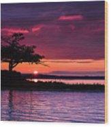 Detroit Point September Sunset Wood Print