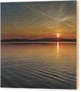 Dog Lake Sunset Wood Print