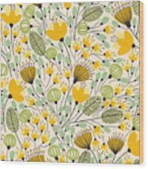 Elegant Seamless Pattern With Yellow Wood Print