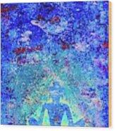 Enlightenment Blue Wood Print