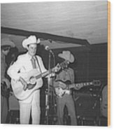 Ernest Tubb At The Palomino Wood Print
