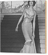 Evening Dress Designed By A California D Wood Print