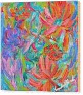 Flower Twirl Wood Print