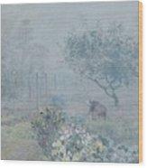 Foggy Morning, Voisins, 1874 Wood Print